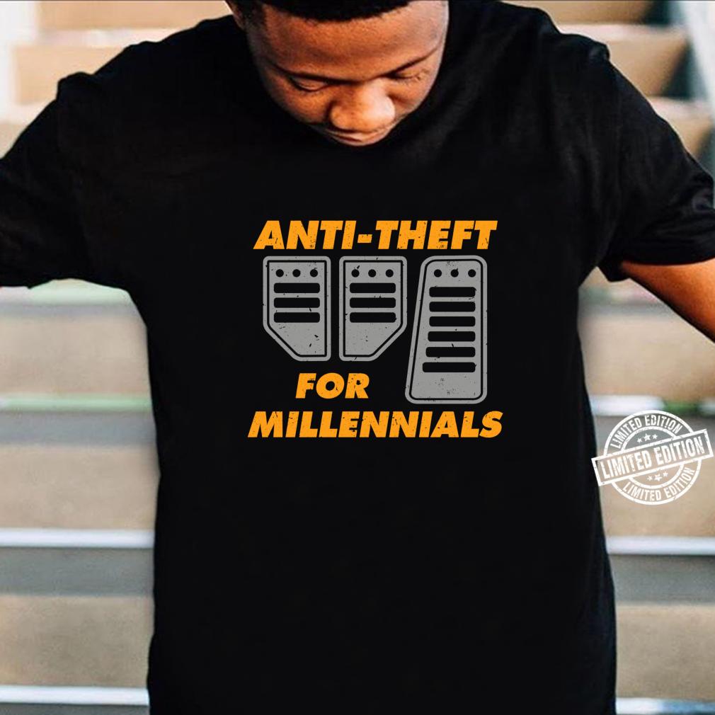 AntiTheft For Millennials Manual Car Driver Brake Clutch Shirt