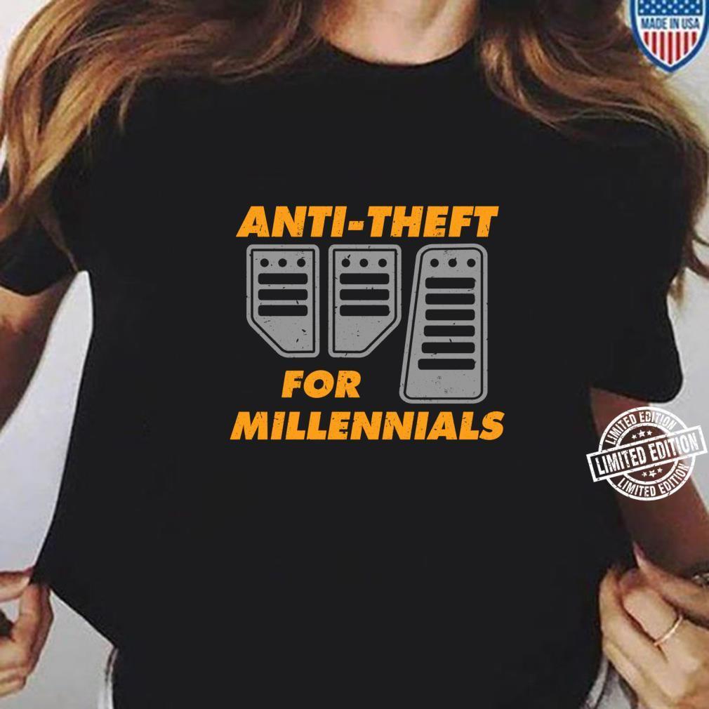 AntiTheft For Millennials Manual Car Driver Brake Clutch Shirt ladies tee