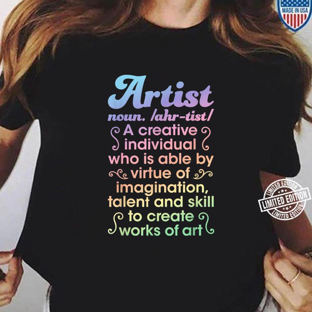 Artist Noun Definition Creative Boys Girls Dictionary Shirt ladies tee