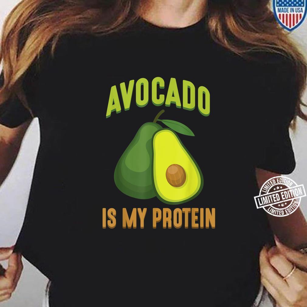 Avocado is my Protein Vegan Weightlifting Veggie Athlete Shirt ladies tee