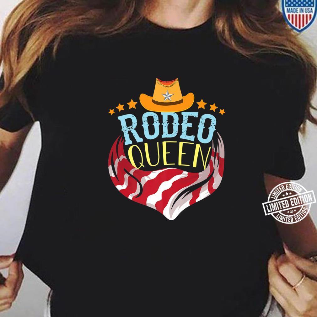 Cute Rodeo Queen Western Barrel Racing Girl Shirt ladies tee