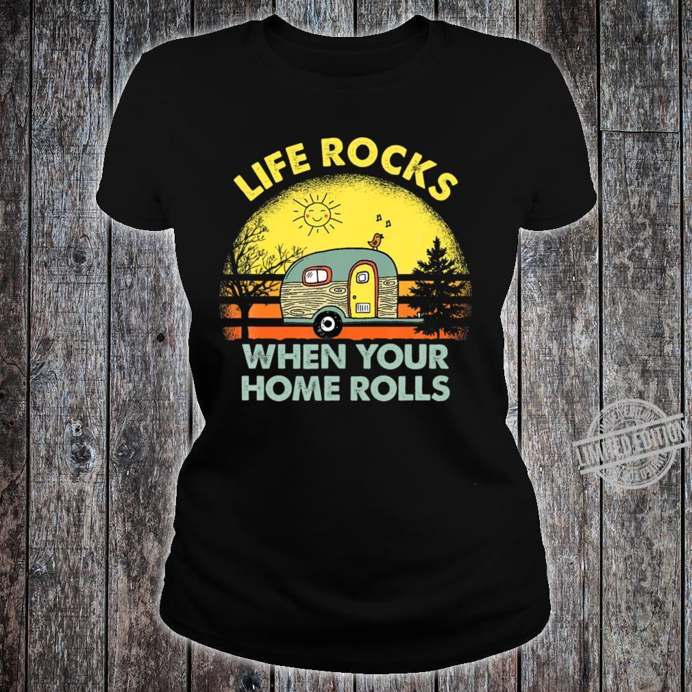 Funny Camping Crewneck Shirt ladies tee