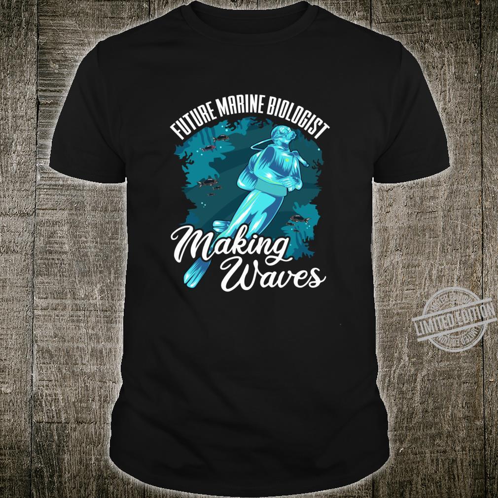 Funny Future Marine Biologist Making Waves Pun Shirt