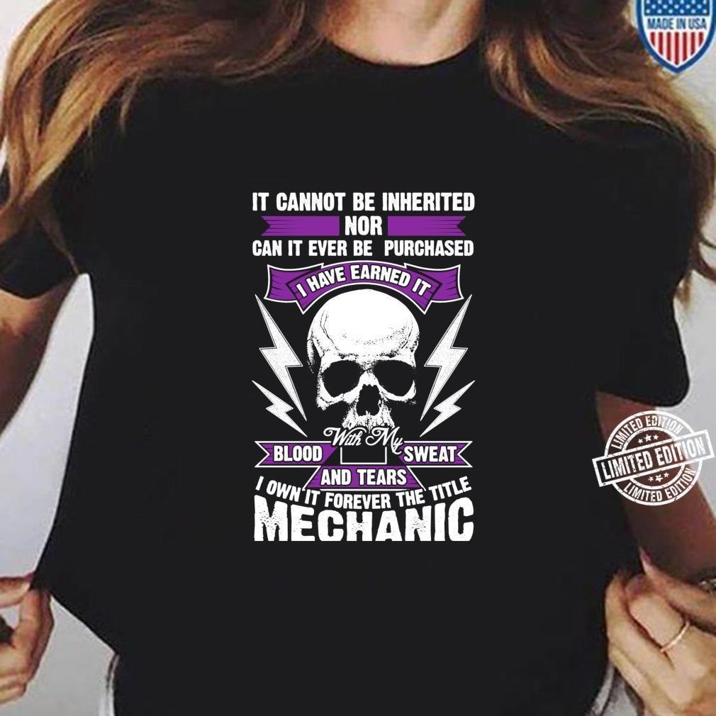 Funny Mechanic Idea, Vintage Novelty Meme Design Shirt ladies tee